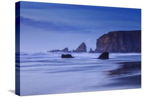 Bluesy Beach, Fort Bragg Mendocino California-Vincent James-Stretched Canvas Print