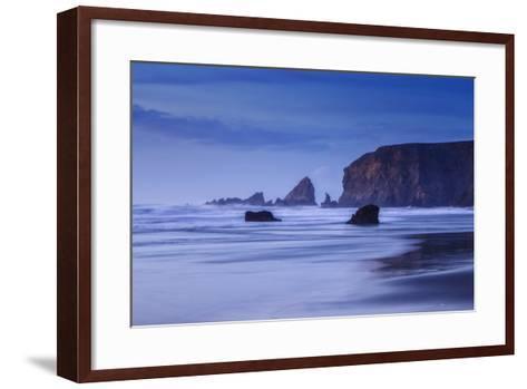 Bluesy Beach, Fort Bragg Mendocino California-Vincent James-Framed Art Print