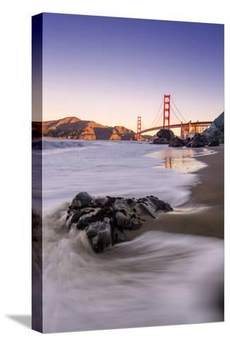 Morning Beachscape at Golden Gate Bridge, California-Vincent James-Stretched Canvas Print