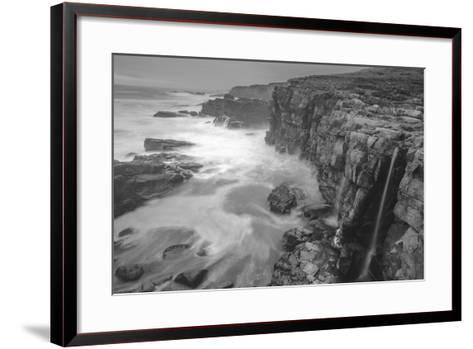 Blustery Sonoma Seascape, California Coast-Vincent James-Framed Art Print