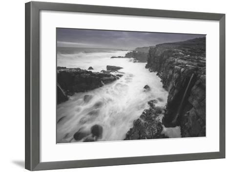Moody Sonoma Seascape, California Coast-Vincent James-Framed Art Print
