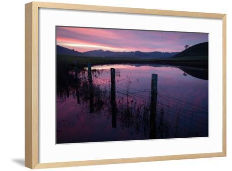 Pre Dawn in the Petaluma Hills, Sonoma County-Vincent James-Framed Art Print