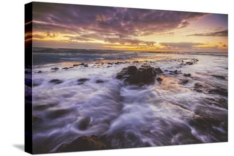 Moody East Kauai Sunrise, Hawaii-Vincent James-Stretched Canvas Print