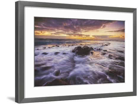 Moody East Kauai Sunrise, Hawaii-Vincent James-Framed Art Print