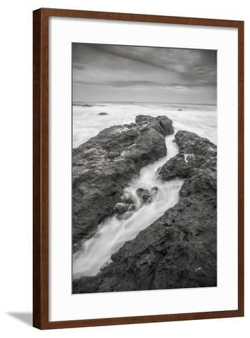 Ocean Painted Seascape No. 1, Mendocino Coast-Vincent James-Framed Art Print