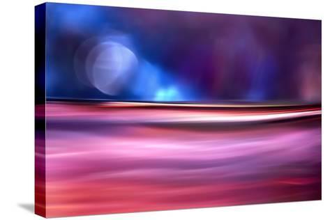 Moonlight on Pink Sea-Ursula Abresch-Stretched Canvas Print