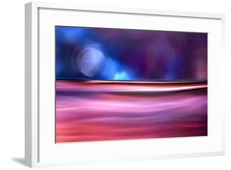 Moonlight on Pink Sea-Ursula Abresch-Framed Art Print