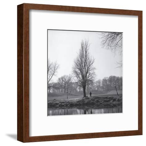 Tree in Winter with Pond-Henri Silberman-Framed Art Print