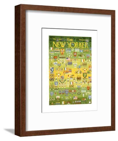 The New Yorker Cover - March 15, 1969-Anatol Kovarsky-Framed Art Print