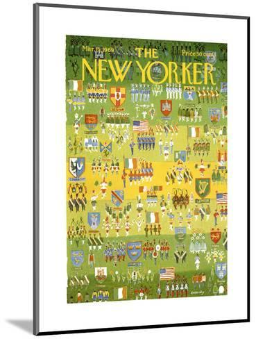 The New Yorker Cover - March 15, 1969-Anatol Kovarsky-Mounted Premium Giclee Print