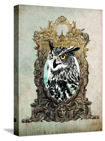 Portrait of Mr. Owl-GI ArtLab-Stretched Canvas Print