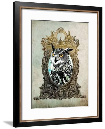 Portrait of Mr. Owl-GI ArtLab-Framed Art Print