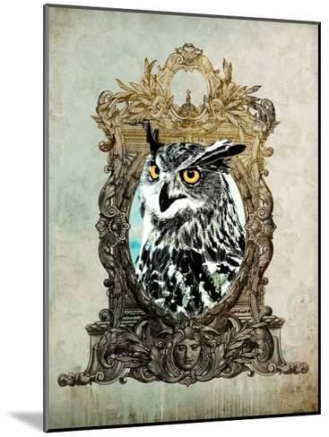 Portrait of Mr. Owl-GI ArtLab-Mounted Premium Giclee Print