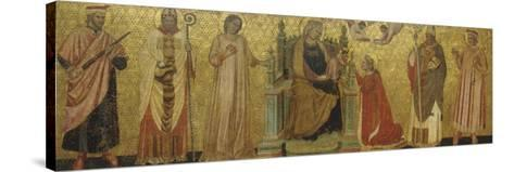 Mystic Marriage of Saint Catherine and Saints, 14th C--Stretched Canvas Print