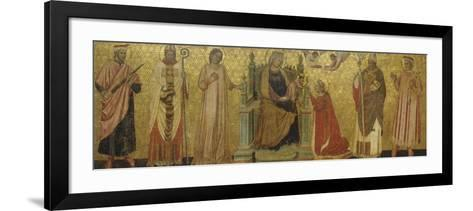 Mystic Marriage of Saint Catherine and Saints, 14th C--Framed Art Print