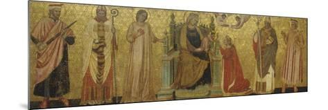 Mystic Marriage of Saint Catherine and Saints, 14th C--Mounted Art Print
