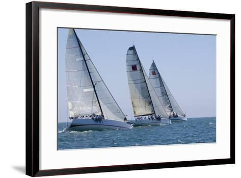 Three Yachts Compete in Team Sailing Event, California--Framed Art Print