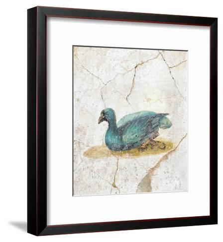 Blue Feathered Duck, C. 10-45--Framed Art Print
