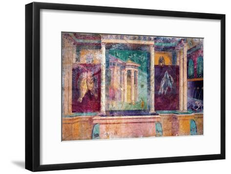 Wall Fresco with Architecture, C. 40-30 B.C.--Framed Art Print