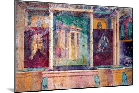 Wall Fresco with Architecture, C. 40-30 B.C.--Mounted Art Print