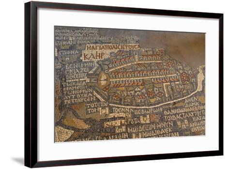 Madaba Mosaic Map. Detail of Jerusalem, 542-570--Framed Art Print