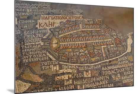Madaba Mosaic Map. Detail of Jerusalem, 542-570--Mounted Photo
