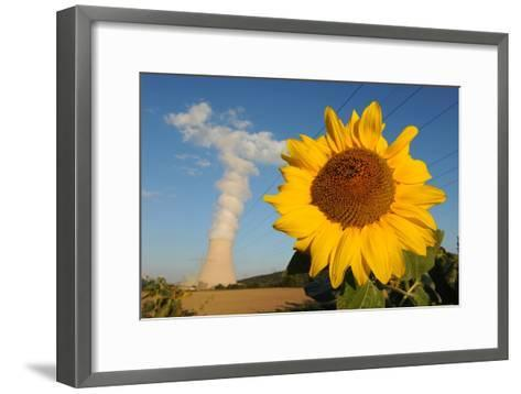 Sunflower, in Front of a Nuclear Power Plant--Framed Art Print