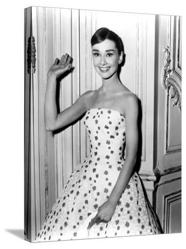 Audrey Hepburn in Funny Face, 1957--Stretched Canvas Print