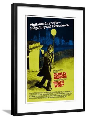 Death Wish, Charles Bronson, 1974--Framed Art Print