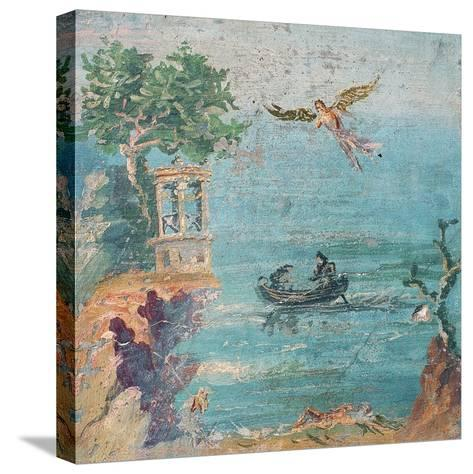 Fall of Icarus, Dead on Beach, Daedalus in Sky, C. 45-79--Stretched Canvas Print
