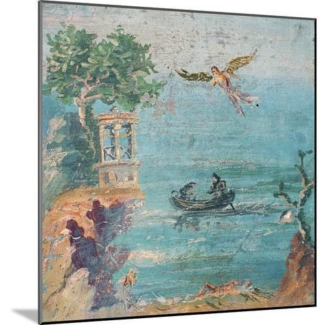 Fall of Icarus, Dead on Beach, Daedalus in Sky, C. 45-79--Mounted Art Print