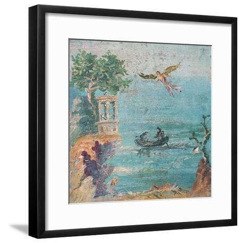 Fall of Icarus, Dead on Beach, Daedalus in Sky, C. 45-79--Framed Art Print