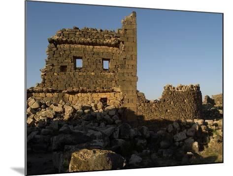 3rd House at Umm El-Jimal, Built During Byzantine Period, 5th-6th C--Mounted Photo