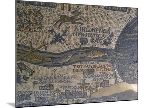 Madaba Mosaic Map, Detail of River Jordan, 542-570--Mounted Photo