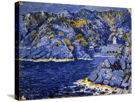 Riviera Lights-Rubaldo Merello-Stretched Canvas Print