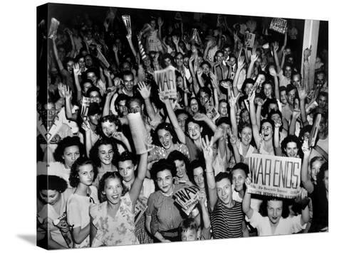V-J Day (Victory over Japan) Celebrations in Oak Ridge, Tennessee--Stretched Canvas Print