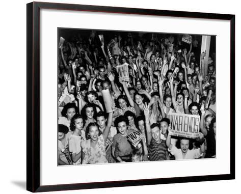 V-J Day (Victory over Japan) Celebrations in Oak Ridge, Tennessee--Framed Art Print