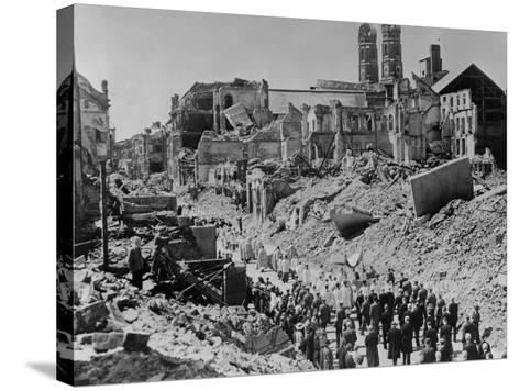 Feast of Corpus Christ Religious Procession in the Ruins of Munich, Germany--Stretched Canvas Print