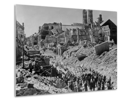 Feast of Corpus Christ Religious Procession in the Ruins of Munich, Germany--Metal Print
