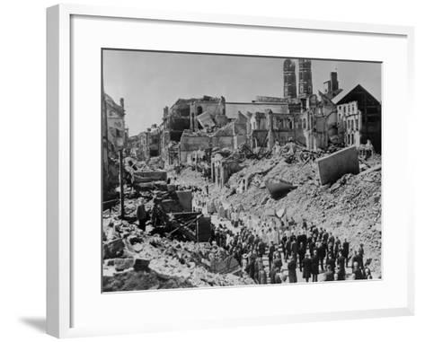 Feast of Corpus Christ Religious Procession in the Ruins of Munich, Germany--Framed Art Print
