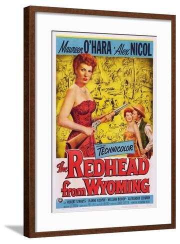 The Redhead from Wyoming, Maureen O'Hara, Alex Nichol, 1953--Framed Art Print