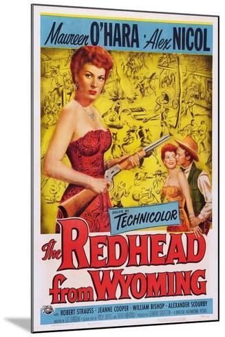The Redhead from Wyoming, Maureen O'Hara, Alex Nichol, 1953--Mounted Art Print