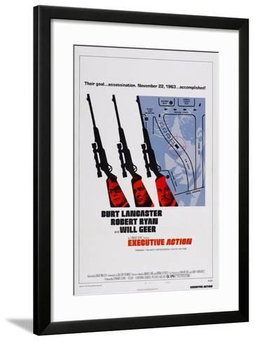 Executive Action, Burt Lancaster, Robert Ryan, Will Geer, 1973--Framed Art Print