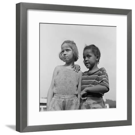 Two Girls at Camp Christmas Seals, a Racially Integrated Summer Camp in Haverstraw, NY-Gordon Parks-Framed Art Print
