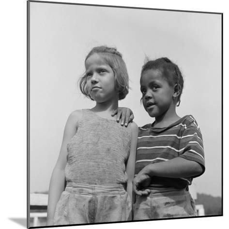 Two Girls at Camp Christmas Seals, a Racially Integrated Summer Camp in Haverstraw, NY-Gordon Parks-Mounted Photo