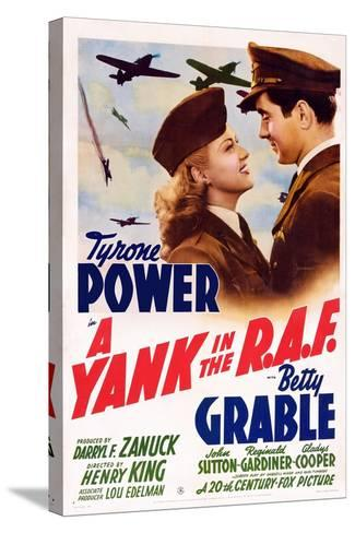 A Yank in the R.A.F., L-R: Betty Grable, Tyrone Power, 1941--Stretched Canvas Print