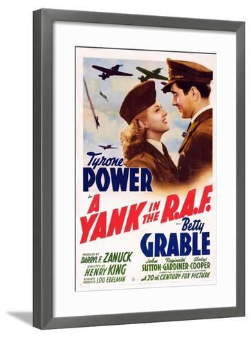 A Yank in the R.A.F., L-R: Betty Grable, Tyrone Power, 1941--Framed Art Print