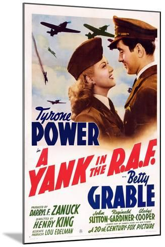 A Yank in the R.A.F., L-R: Betty Grable, Tyrone Power, 1941--Mounted Art Print