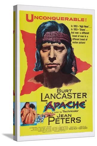 Apache, Burt Lancaster, 1954--Stretched Canvas Print