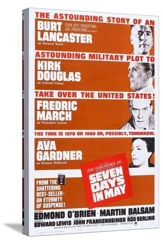 Seven Days in May, from Top: Burt Lancaster, Kirk Douglas, Fredric March, Ava Gardner, 1964--Stretched Canvas Print